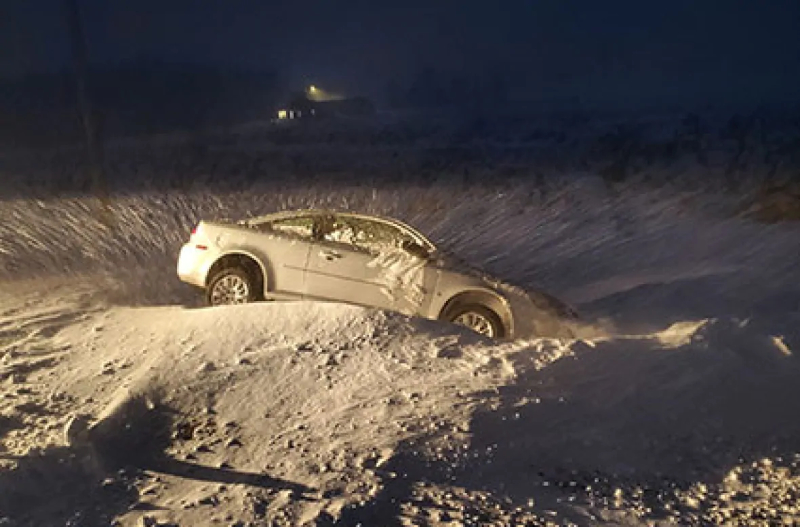 RCMP Rescues Winter Driver